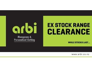 Arbi Ex Stock Range Clearance