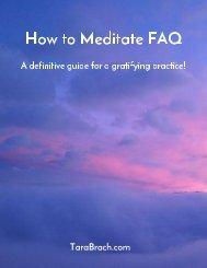 How to Meditate FAQ