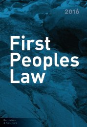 First Peoples Law 1