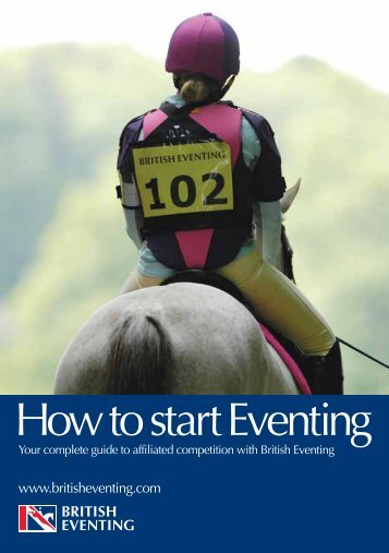 16-31 How to start eventing:Layout 1 - Team Fredericks