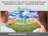 How The New Act will Affect Reverse Mortgage Companies in Illinois ? - Z Reverse Mortgage