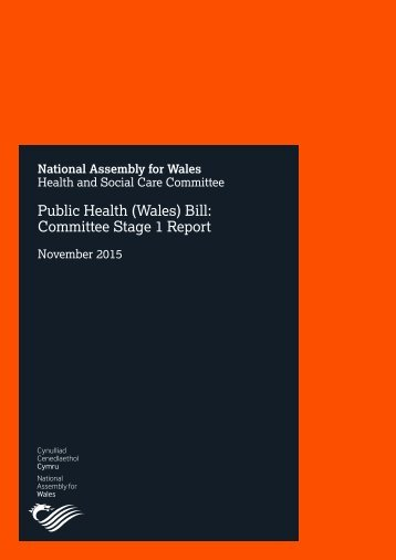 Public Health (Wales) Bill Committee Stage 1 Report