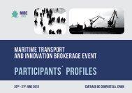 participants´ profiles - FP7 Maritime Transport Brokerage Event