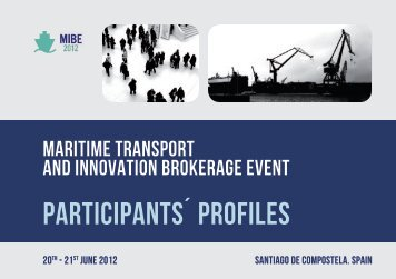 participants´ profiles - FP7 Maritime Transport Brokerage Event