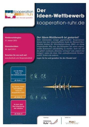 Der Ideen-Wettbewerb ist gestartet! - RAG-Stiftung