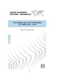 Informe de Labores 2008-2009 - Unidad Académica en Estudios del ...