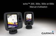 Garmin echo™ 500c - Manuel d'utilisation