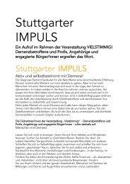 Stuttgarter IMPULS - Aktion Demenz