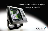 Garmin GPSMAP 440x - Manuel d'utilisation