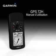 Garmin GPS 72H - Manuel d utilisation