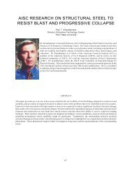 AISC Research on Structural Steel to Resist Blast - Emergency ...