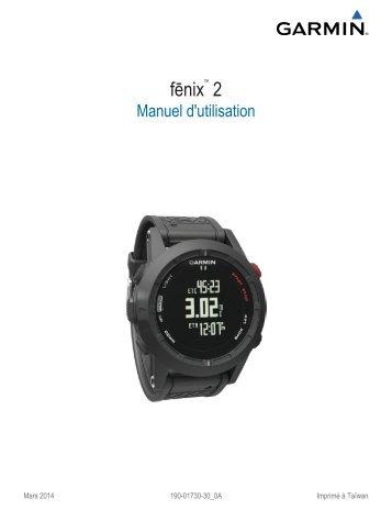 Garmin fēnix® 2 Special Edition - Manuel d'utilisation