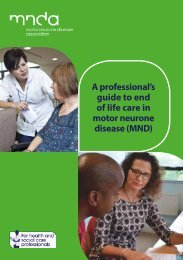 A professional's guide to end of life care in motor neurone disease (MND)