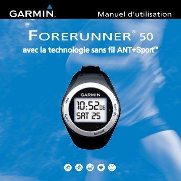 Garmin Forerunner® 50 - Manuel d utilisation