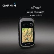 Garmin eTrex® 30 - Manuel d'utilisation