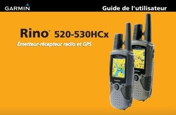 Garmin Rino® 520HCx - Manuel d'utilisation