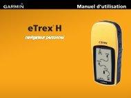 Garmin eTrex® H - Manuel d utilisation