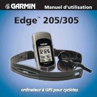 Garmin Edge® 305 - Manuel d'utilisation