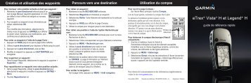 Garmin eTrex Vista® H - guide de reference rapide