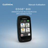 Garmin Edge® 800 - Manuel d'utilisation