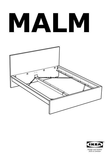 Ikea Malm Cadre De Lit Haut S49929229 Plan S De Montage