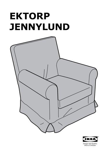 Ikea Fauteuil Ektorp.Ikea Ektorp Jennylund Fauteuil S19047333 Plan S De Montage
