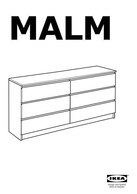 Ikea MALM Commode 6 Tiroirs - 70103349 notice et plan de montage pdf ...