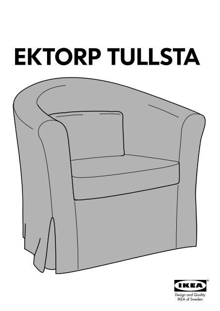 ikea ektorp tullsta housse de fauteuil 10182392 plan s. Black Bedroom Furniture Sets. Home Design Ideas