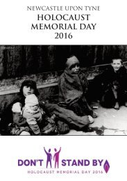 HOLOCAUST MEMORIAL DAY 2016