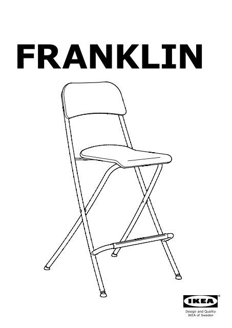 Ikea Franklin Tabouret De Bar Agrave Dossier Pliant