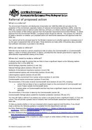 Referral of proposed action Project title - Xstrata