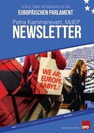 Infobrief der Europaabgeordneten Petra Kammerevert - Ausgabe: Januar 2016 Nr.1