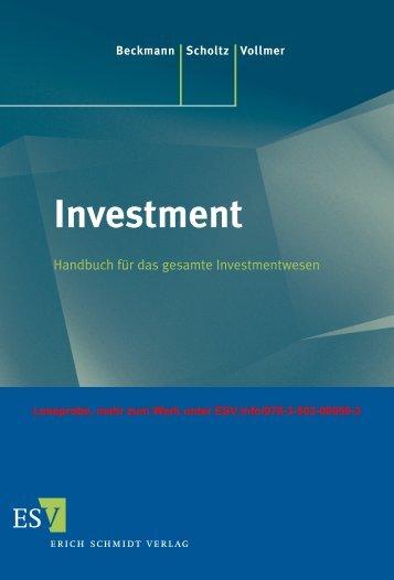 Elser in: Beckmann/Scholtz/Vollmer, Investment-Handbuch, Die Investitionsgesellschaften, Leseprobe