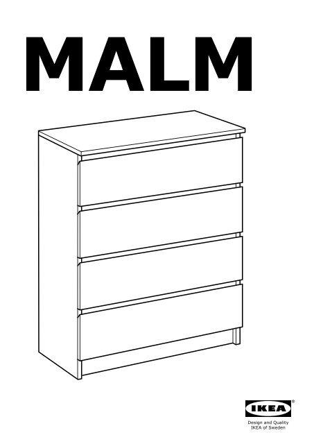 Ikea Malm Commode 4 Tiroirs 50103345 Plan S De Montage