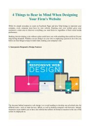 4 Things to Bear in Mind When Designing Your Firm's Website