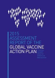 2015 ASSESSMENT REPORT OF THE GLOBAL VACCINE ACTION PLAN