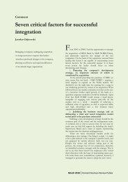 Seven critical factors for successful integration - Dąbrowski Finance