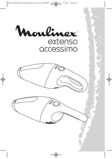 Moulinex aspirateur a main extenso cyclonic fushia - MX466301 - Modes d'emploi aspirateur a main extenso cyclonic fushia Moulinex