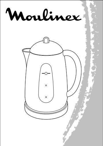 Moulinex bouilloire subit noir/inox - BY510110 - Modes d'emploi bouilloire subit noir/inox Moulinex