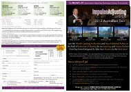 Impulse Adjusting System™ 2012 World Tour - Comes to Australia