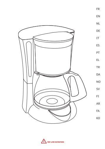 Moulinex cafetiere subito fushia/noir - FG360710 - Modes d'emploi cafetiere subito fushia/noir Moulinex