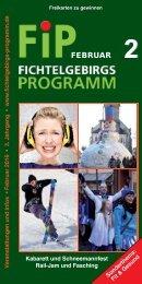 Fichtelgebirgs-Programm - Februar 2016