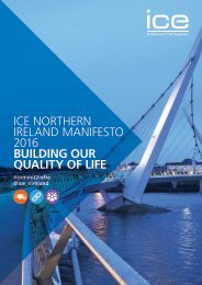 ICE NORTHERN IRELAND MANIFESTO 2016 BUILDING OUR QUALITY OF LIFE