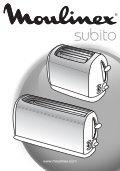 Moulinex SUBITO - TL176130 - Modes d'emploi SUBITO Moulinex - Page 2