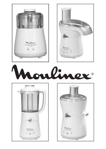 Moulinex hachoir la moulinette blanc - DPA141 - Modes d'emploi hachoir la moulinette blanc Moulinex