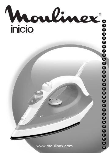 Moulinex INICIO - IM1230E0 - Modes d'emploi INICIO Moulinex