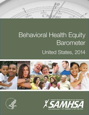 Behavioral Health Equity Barometer