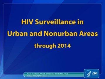 HIV Surveillance in Urban and Nonurban Areas