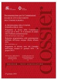Documentazione per le Commissioni DELL'UNIONE