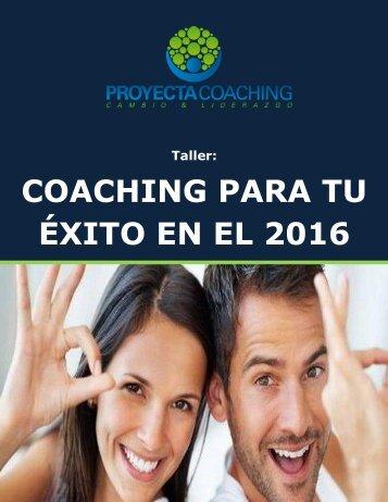 COACHING PARA TU ÉXITO EN EL 2016